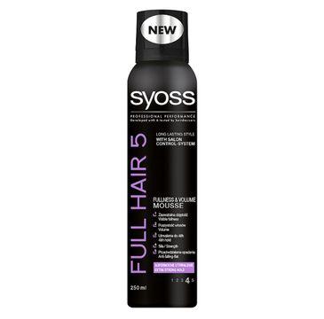 Syoss Full Hair 5D pianka do każdego typu włosów dodaje objętości 250 ml