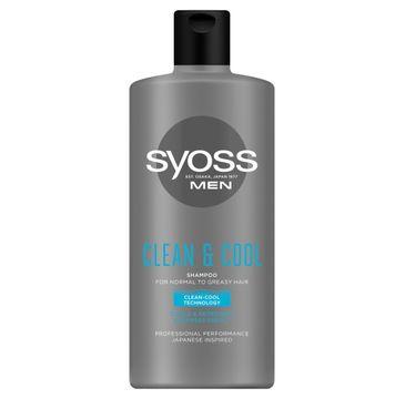 Syoss Men Cool & Clean Shampoo – szampon dla mężczyzn z mentolem do włosów normalnych i przetłuszczających się (440ml)