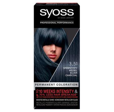 Syoss  Permanent Coloration farba do włosów nr 3_51 Srebrzysty Węgiel (1 op.)