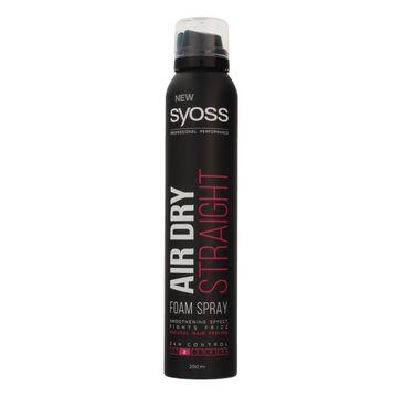 Syoss pianka do włosów Air Dry Straight 200 ml