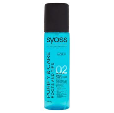 Syoss Purify & Care odżywka-spray do włosów suchych na końcówkach 200 ml
