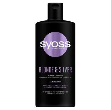 Syoss – Szampon neutralizujący Blonde Silver (440 ml)