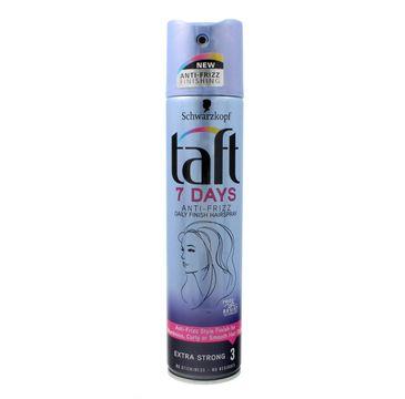 Taft 7Days Lakier do włosów Anti-Frizz super mocny  250ml