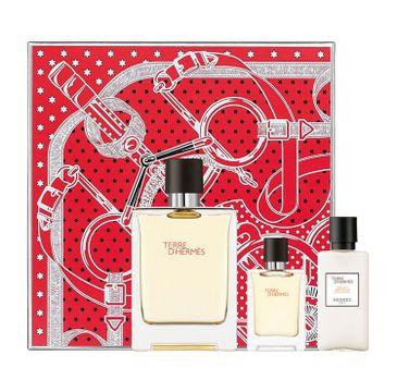 Terre D'Hermes zestaw woda perfumowana spray 75ml + woda perfumowana spray 12.5ml + woda po goleniu 40ml