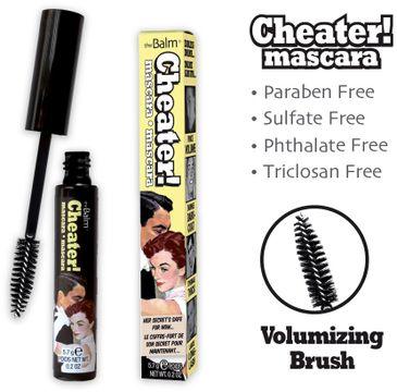 The Balm Cheater Mascara pogrubiający tusz do rzęs Black 5,7g
