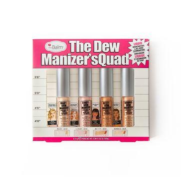 The Balm The Dew Manizer'sQuad Liquid Highlighters zestaw rozświetlaczy w płynie 8.4ml