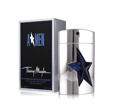 Thierry Mugler – A Men woda toaletowa spray z możliwością ponownego napełnienia metal (100 ml)