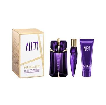Thierry Mugler Alien zestaw woda perfumowana spray 60ml + miniatura wody perfumowanej 10ml + mleczko pod prysznic 50ml (1 szt.)