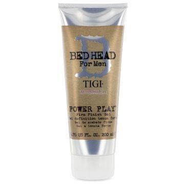 Tigi Bed Head For Men Power Play Firm Finish Gel mocny żel utrwalający do włosów dla mężczyzn 200ml