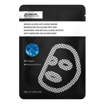Timeless Truth Mask Anti-Aging Collagen Bio Cellulose Mask przeciwstarzeniowa maseczka z biocelulozy Kolagen & Kwas Hialuronowy 30ml