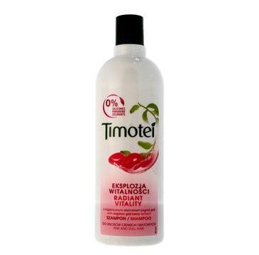 Timotei szampon do włosów  matowych, eksplozja witalność z ekstraktem z owoców goji 400 ml