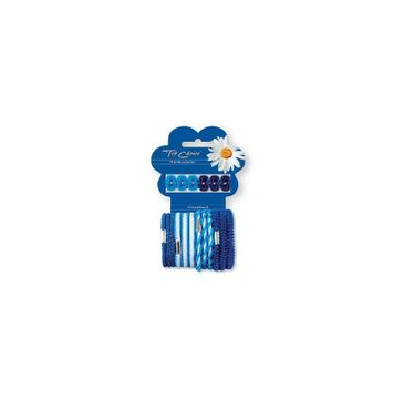 Tom Choice klamerki + gumki XS niebieskie 6 + 12 szt.