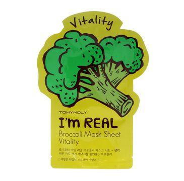 TONY MOLY I'M REAL Brokułowa maska w płachcie 21g