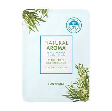Tony Moly Natural Aroma Mask Sheet Tea Tree łagodząca maska do twarzy 21g