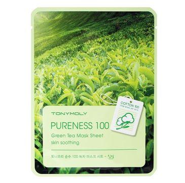 Tony Moly Pureness 100 Green Tea Mask Sheet Skin Soothing kojąca maska do twarzy z ekstraktem z zielonej herbaty 21ml