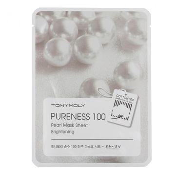 Tony Moly Pureness 100 Pearl Mask Sheet Brightening odżywcza maska do twarzy z wyciągiem z pereł 21ml