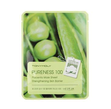 Tony Moly Pureness 100 Placenta Mask Sheet Vitality odżywcza maska do twarzy z placentą 21ml