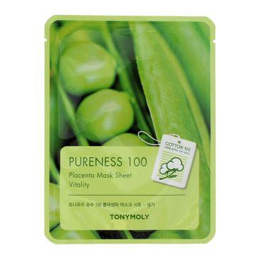 TONY MOLY PURENESS 100 Placenta roślinna Maska na płachcie  21ml