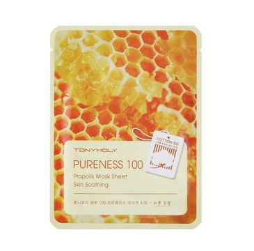 Tony Moly Pureness 100 Propolis Mask Sheet Skin Soothing kojąca maska do twarzy z propolisem 21ml