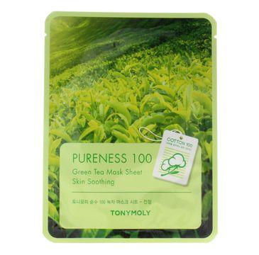 TONY MOLY PURENESS 100 Zielona Herbata Maska na płachcie 21ml