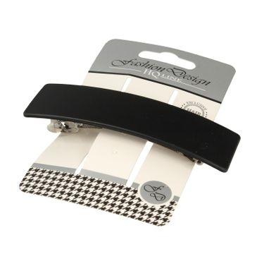 Top Choice – Fashion Design Spinka do włosów automatyczna czarna-mat 26348 (1 szt.)