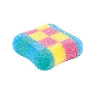 Top Choice gąbka do kąpieli kwadrat różnokolorowa (30482) 1 szt.