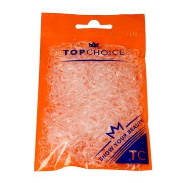 Top Choice gumki do upinania włosów transparentne (22715) 1 op. - 500 szt.