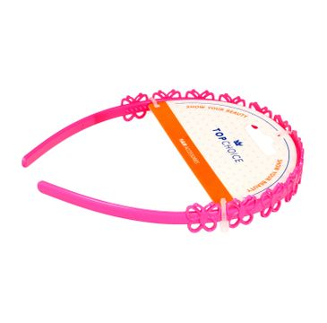 Top Choice Opaska do włosów w różowe motylki (27918) 1 szt.