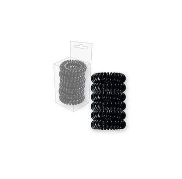 Top Choice Wire gumki do włosów czarne (22517) 1 op. - 6 szt.