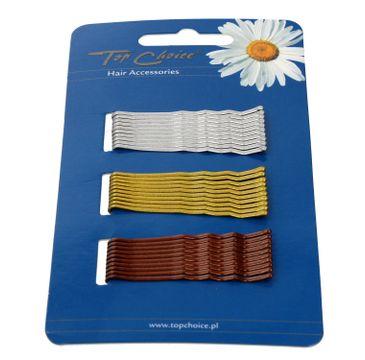 Top Choice wsuwki do włosów 3 kolory (23736) 1 op. - 30 szt.