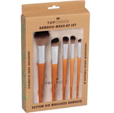 Top Choice – Zestaw pędzli do makijażu Bamboo 37474 (1op.- 5 szt.)