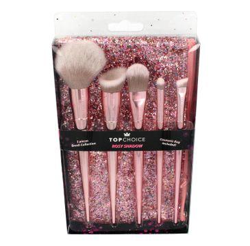 Top Choice Zestaw Rosy Shadow (5 pędzli do makijażu+brokatowa kosmetyczka) 37535 1op.