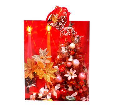 Torebka ozdobna świąteczna rozmiar M mix wzorów 1 szt.