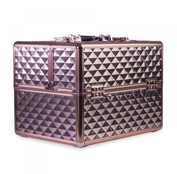 Comfort Plain – 3D Diamond Rose Gold kufer z przegródkami na lakiery (1 szt.)