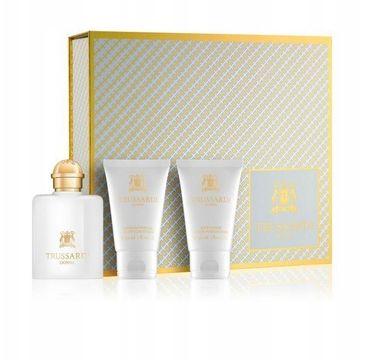Trussardi Donna zestaw prezentowy woda perfumowana spray 30 ml + balsam do ciała 30 ml + żel pod prysznic 30 ml