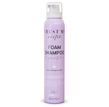 Trust My Sister Foam Shampoo szampon do włosów niskoporowatych (200 ml)