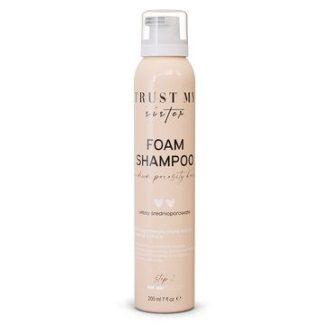 Trust My Sister Foam Shampoo szampon do włosów średnioporowatych (200 ml)