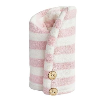 Trust My Sister Ręcznik do włosów z mikrofibry Różowo-Biały (1 szt.)