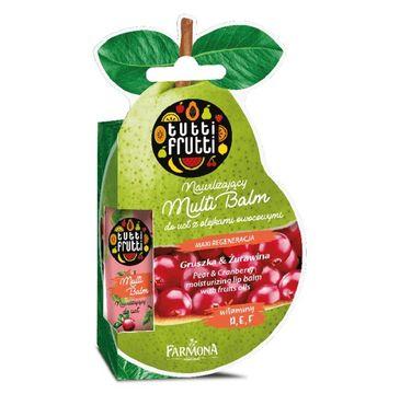 Tutti Frutti – Balsam do ust nawilżający Gruszka & Żurawina (12 ml)