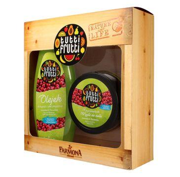 Tutti Frutti Gruszka i Żurawina zestaw prezentowy olejek pod prysznic 425 ml + masło do ciała 200 ml
