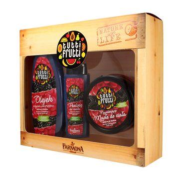Tutti Frutti Jeżyna & Malina zestaw prezentowy olejek pod prysznic 425 ml + masło do ciała 200 ml + peeling 100 ml