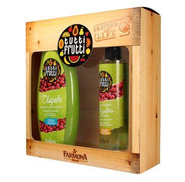 Tutti Frutti zestaw prezentowy Gruszka i Żurawina olejek do kąpieli 425 ml + mgiełka do ciała 200 ml