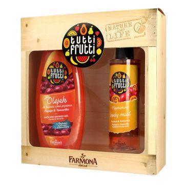 Tutti Frutti zestaw prezentowy Papaja&Tamarillo olejek do kąpieli 425 ml + mgiełka do ciała 200 ml