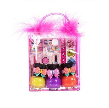 Tutu Peel-Off zestaw prezentowy lakierów prezentowy do paznokci w kosmetyczce 12 3 x 5 ml
