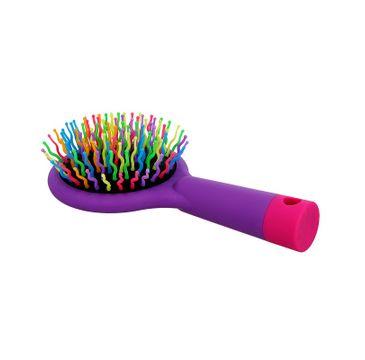Twish Handy Hair Brush With Mirror szczotka do włosów z lusterkiem Lavender Floral