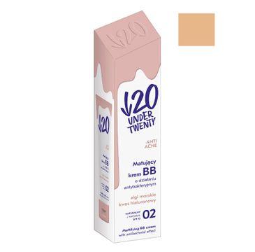 Under Twenty Anti Acne matująco-antybakteryjny krem BB 02 Naturalny 30ml