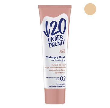 Under Twenty Anti Acne matujący fluid antybakteryjny 02 Naturalny 30ml