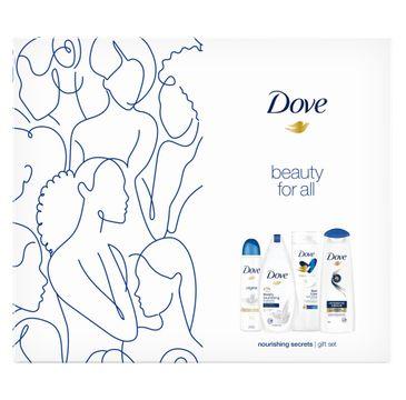 Dove Zestaw prezentowy Nourishing Secrets deo spr.150ml + żel p/pr. 250ml+balsam d/ciała 250ml+szampon 250ml (1 szt.)