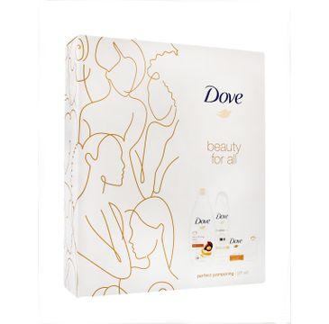 Dove Zestaw prezentowy Perfect Pampering deo spray 150ml + żel pod prysznic 250ml+mydło w kostce 100g (1 szt.)