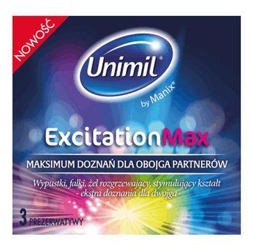 Unimil Excitation Max prezerwatywy 3szt